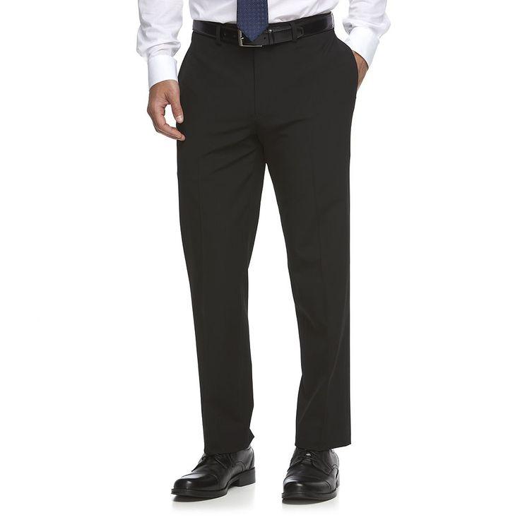 Men's Van Heusen Flex Slim-Fit Suit Pants, Size: 36X34, Black