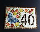 Número para Casa mosaico Borboleta
