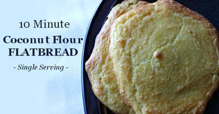 This easy grain free coconut flour flatbread comes together in 10 minutes!