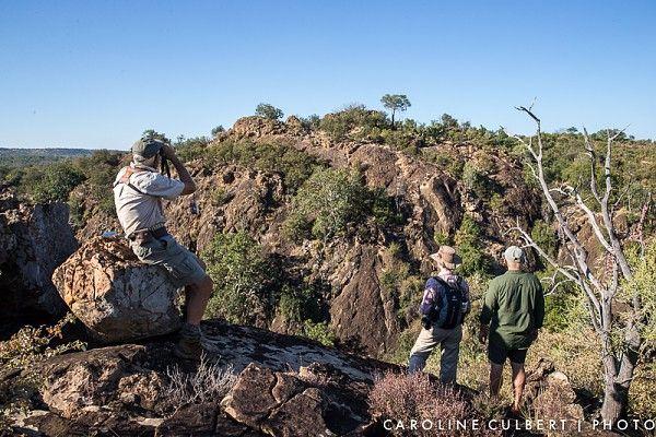 Admiring the scenery at the Huthwini Gorge #PafuriWalkingTrail #KrugerNationalPark