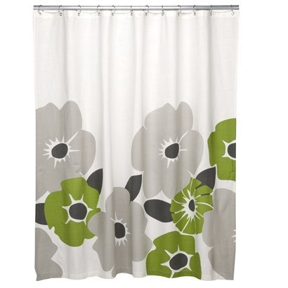 would make the perfect shower curtain to hide our hideous avocado bath suite...