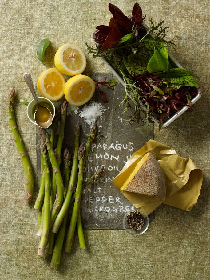 Ingredients for asparagus salad from Our Seasonal Table