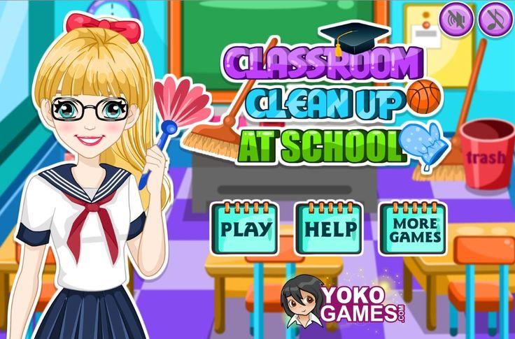 Zajęcia w klasie po całym dniu sprawiają, że sala jest brudna! Pomóż dziewczynie ogarnąć bałagan!  http://www.ubieranki.eu/gry/3919/posprzataj-klase.html