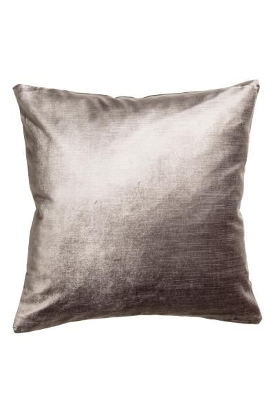 Velvet cushion cover in a cotton blend with a concealed zip.