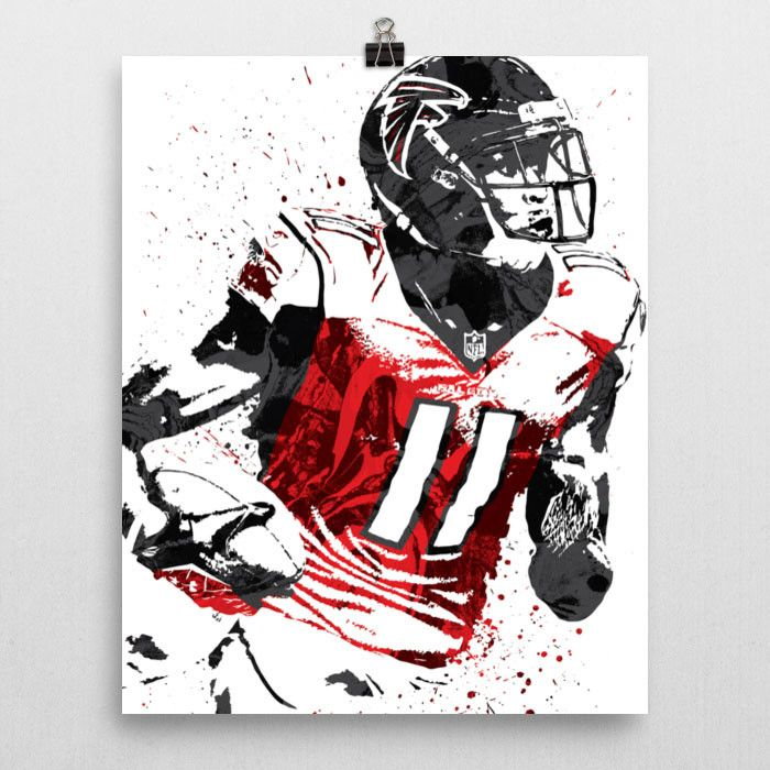 Julio Jones poster. Jones is an American football wide receiver who plays for the Atlanta Falcons of the National Football League (NFL). He played college football at Alabama, and was drafted by the F