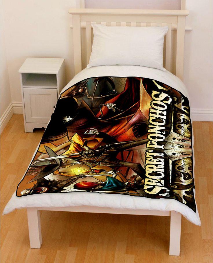 Secret Ponchos Outlaws Bedding Throw Fleece Blanket // Price: $51.99  //     #bestgift