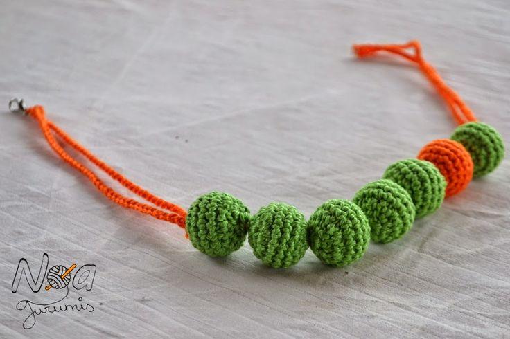 17 mejores ideas sobre collar de ganchillo en pinterest - Bolas de ganchillo ...
