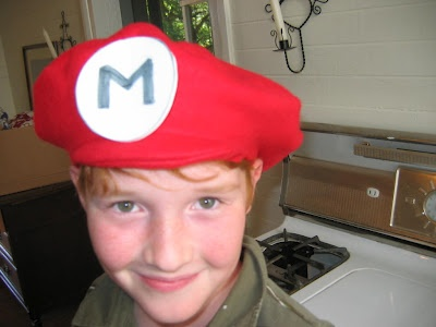 How to make Mario or Luigi hats at Groovy Kid Stuff