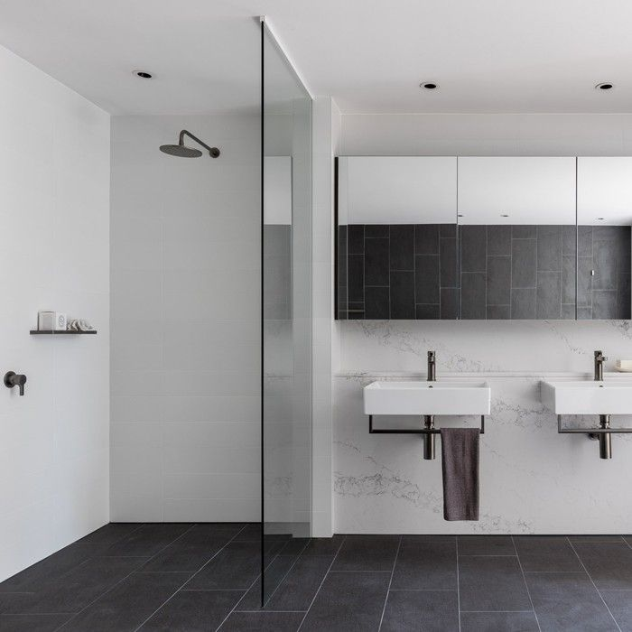 Rogerseller Natural Elements Graphite Shower and Tapware with Catalano Premium Basins. The Buckland Alexandria, Sydney
