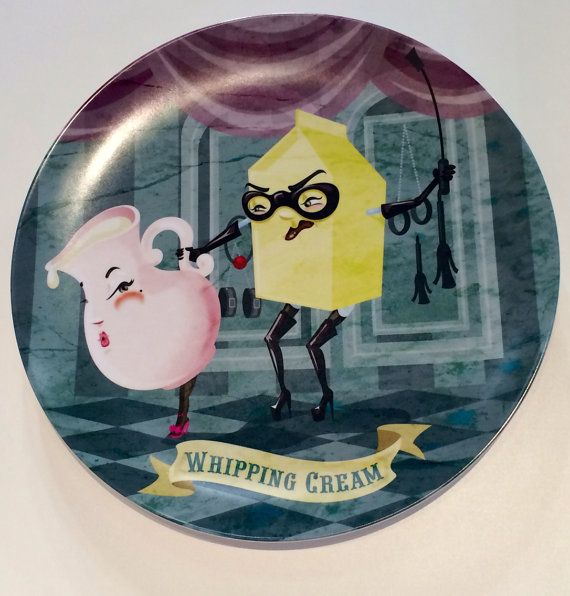 Whipping Cream plate on Etsy, $35.00