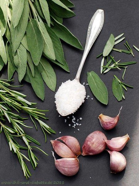 Sage Rosemary fokhagyma só