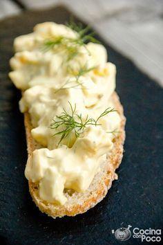 receta de ensalada de huevo cocido duro con mayonesa