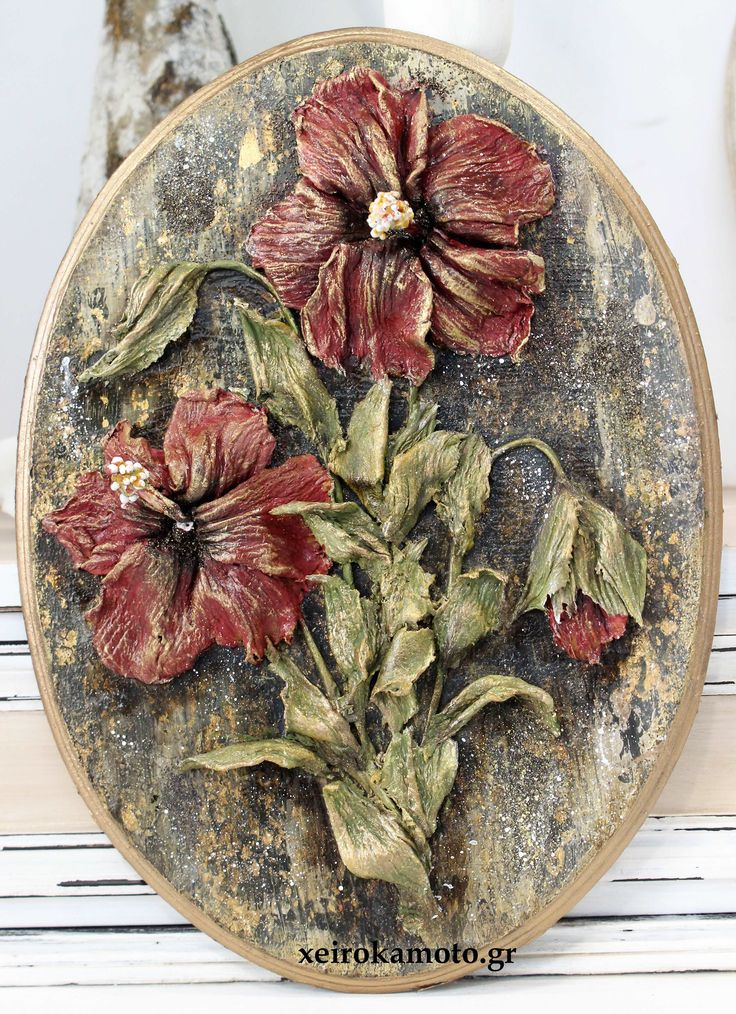 Hibiscus with clay