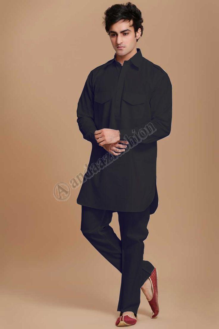 Black mens ethnic wear design no 5042 price 15 95 andaaz fashion present eid designer