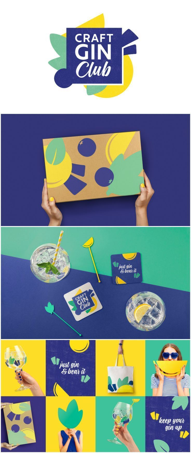 Drink Outside The Box Craft Gin Club Rebrand Design Agency