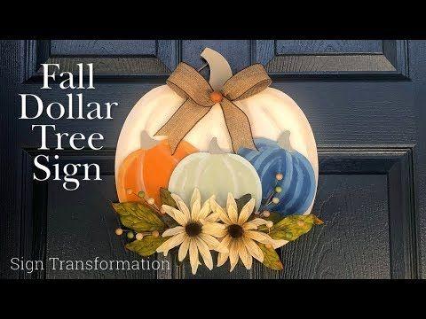 Dollar Tree Fall Diy Dollar Tree Sign Transformation