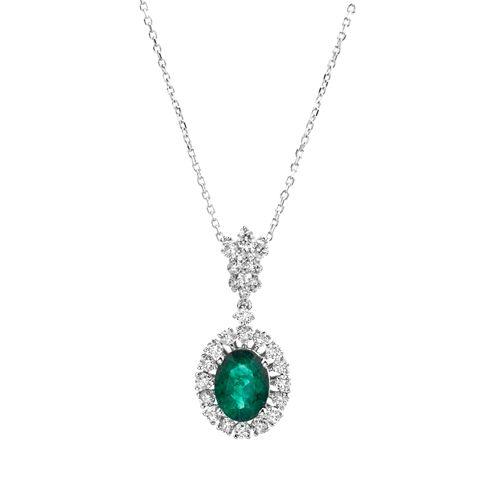 Lant cu smaralde si diamante C604