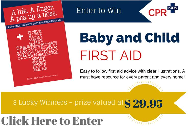 Enter now - 3 Lucky Winners! Baby and Child First AID by CPR Kids