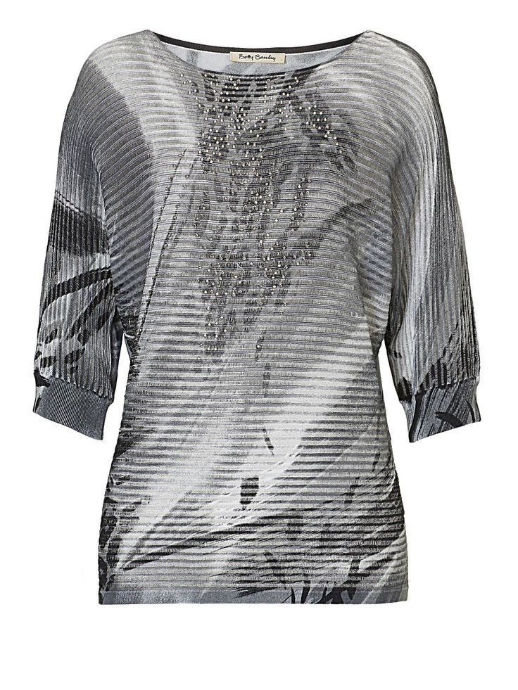 Betty Barclay Graphic Print Embellished Top - House of Fraser