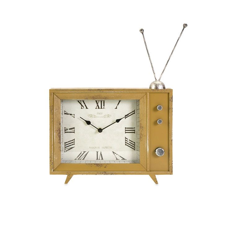 Remember that TV your grandparents used to have? The image of it still brings back fond memories of old shows long gone. Now, turn back time with this clock that's a nod to a sweet era.  Find the Turn Back Time Clock, as seen in the The Grand Storyteller of Design Collection at http://dotandbo.com/collections/the-grand-storyteller-of-design?utm_source=pinterest&utm_medium=organic&db_sku=IMX0519