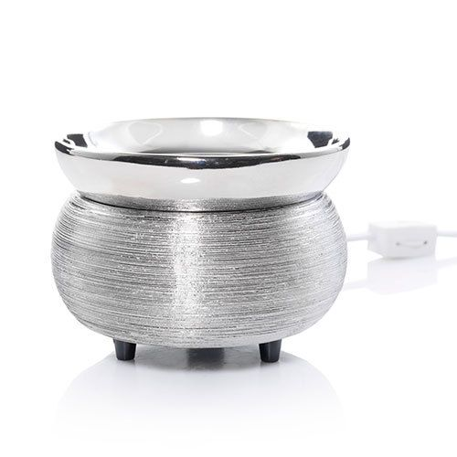Electric Wax Melts Warmer - Brushed metal shimmers to add an elegant touch to your décor.