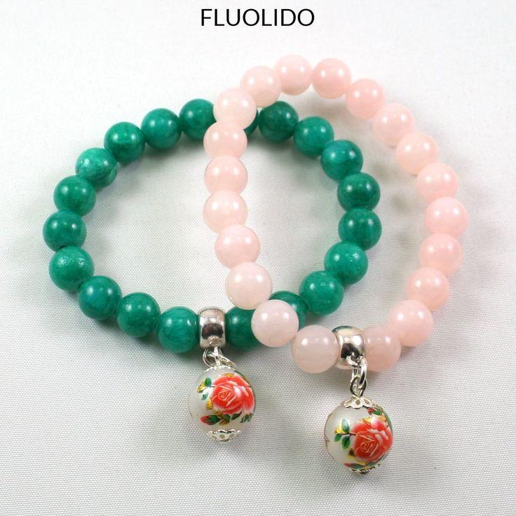 Bracelet Jade Floral