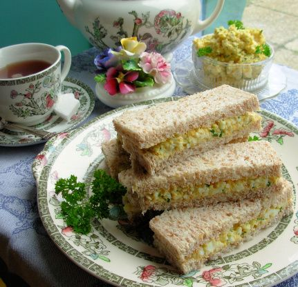 Dainty Egg And Chive Tea Sandwiches For Tea-Time Recipe - Food.com