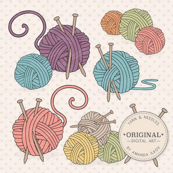 Premium Knitting Clipart & Vectors Knitting Clip by AmandaIlkov