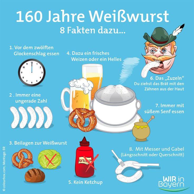 Le Weißwurst, un boudin blanc bavarois qui doit se déguster le matin, une délicatesse essentielle de la cuisine bavaroise, fête le ...