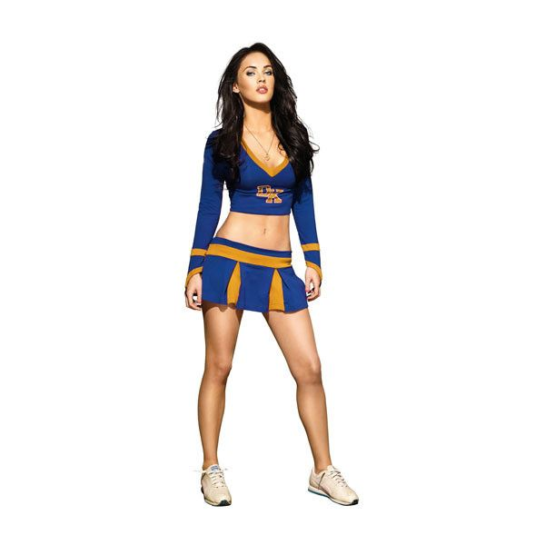 World Exclusive! Megan Fox Cheerleader Pictures totalfilm.com ❤ liked on Polyvore featuring cheer, megan fox, cheerleaders, costumes and paper dolls