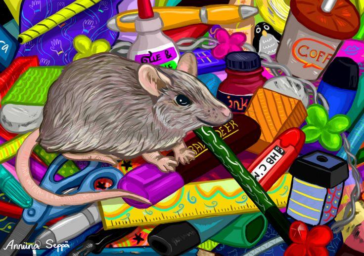Hoksotin | A free digital jigsaw puzzle of a mouse / Ilmainen digitaalinen palapeli hiirestä