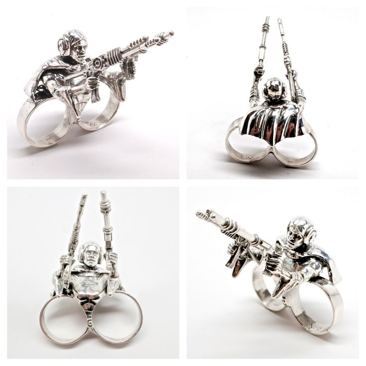 this 2 finger ring was made from the princess leia i had