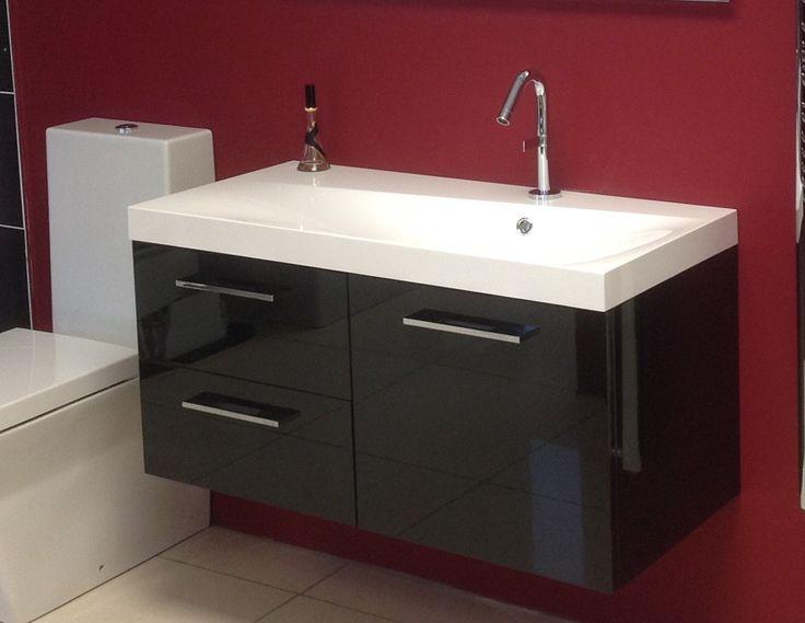 New - Kohler basin with gloss black unit
