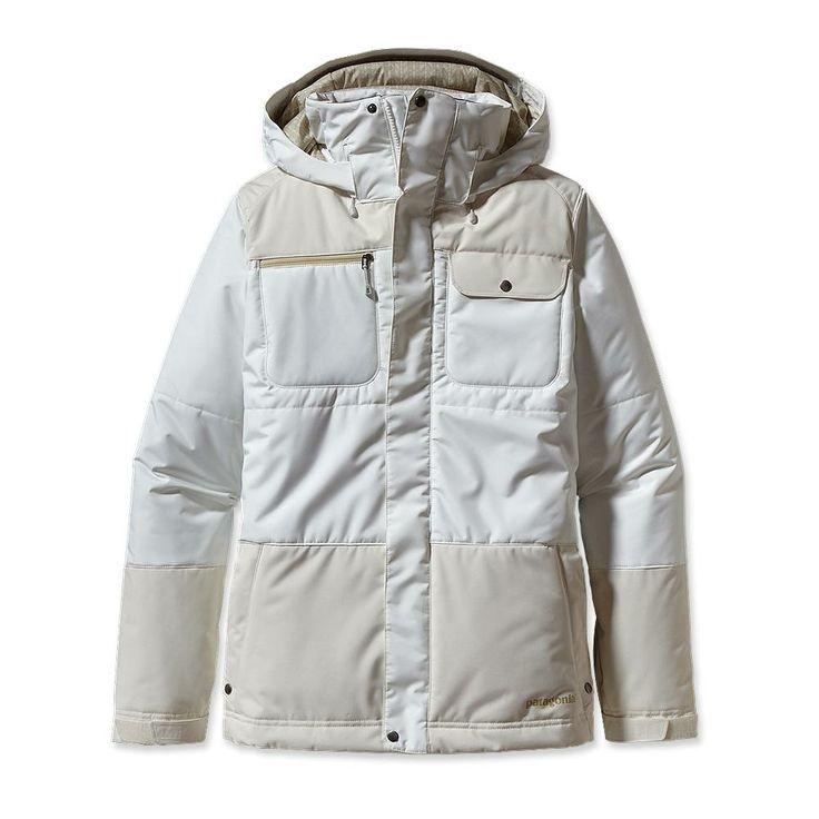 Patagonia ski jacket in natural white