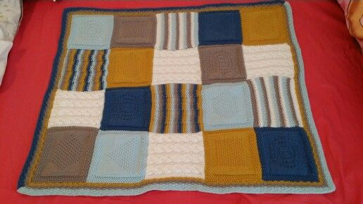 Building Blocks blanket made for Rob & Kendall's baby.
