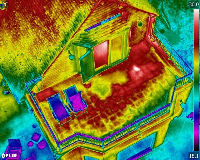 Infrared Flat Roof Moisture Surveys Thermal Camera Inspections Can Detect A Number Of Roof Moisture Problems Due To In 2020 Roof Inspection Roof Thermal Efficiency
