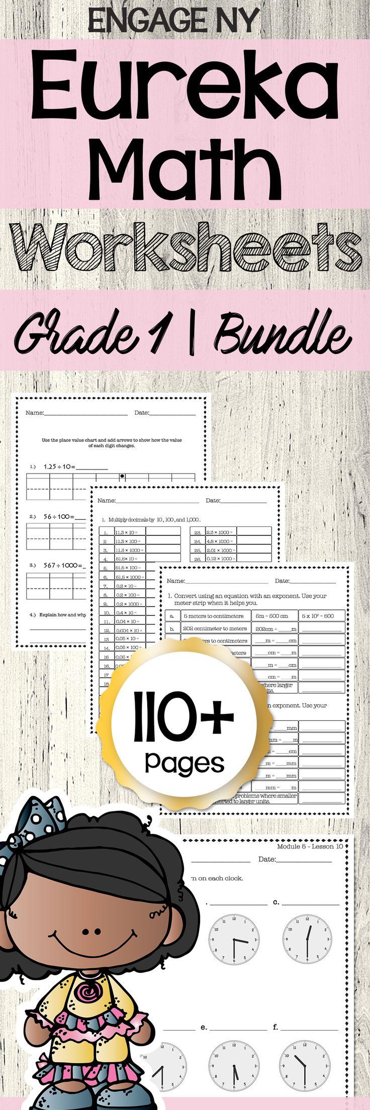 Eureka Math Engage Ny 1st Grade Extra Worksheets Bundle All Modules Eureka Math Math Engage Ny Math [ 2208 x 736 Pixel ]