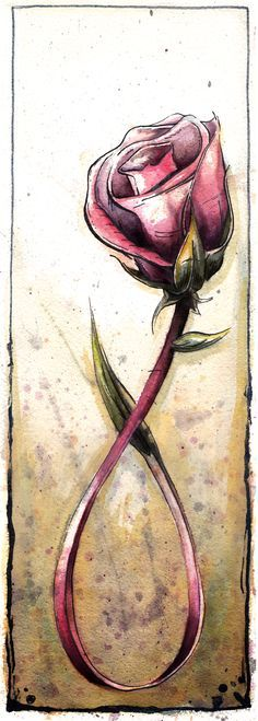 breast cancer ribbon rose tattoo - Google Search