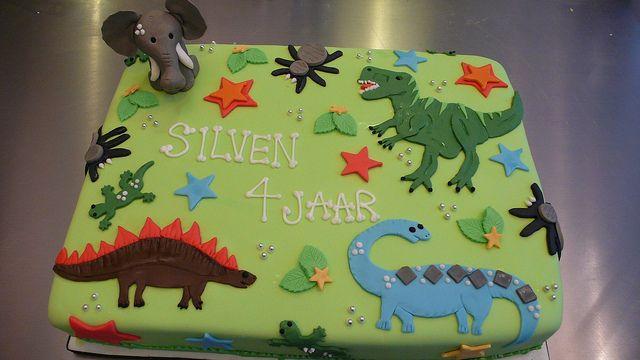 Dinosaur Birthday Cake by CAKE Amsterdam - Cakes by ZOBOT, via Flickr