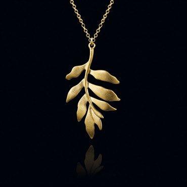 Classic guld halskæde med vedhæng fra Julie Sandlau