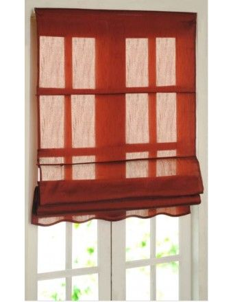 "#DecoWindow #Blinds Roman Blind Bangalore Silk 36"" Rose Wood at on special price ₹824.00"