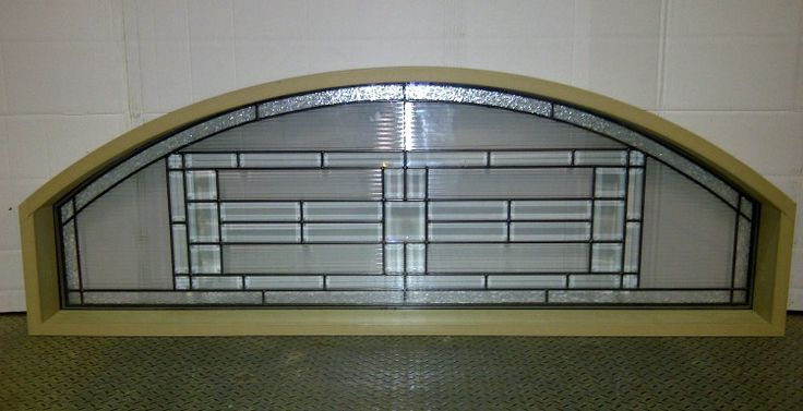 Wood Transom with Glass Unit