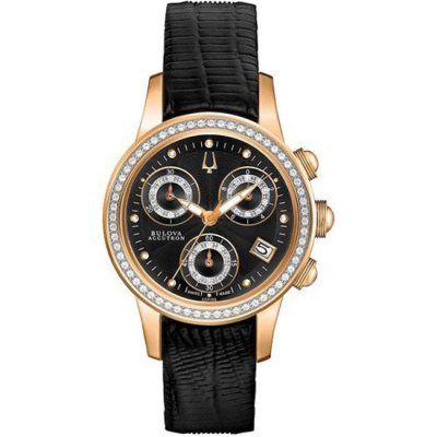 Bulova Accutron - Ladies\' Masella Chrono Diamond Leather Watch - 65R150 - RRP: £1,395.00 - Online Price: £697.00