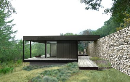 The Wallace Creek prefab residence. Designed by Marmol Radziner Prefab.