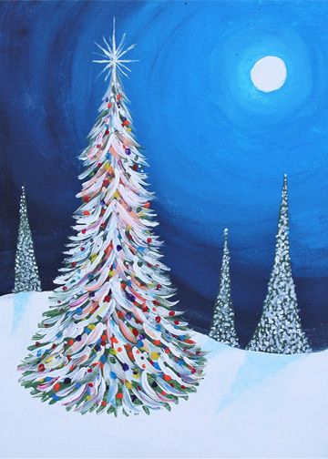 Paint My Alfie Tree At GOTG Simple Canvas PaintingsChristmas CanvasChristmas TreeEasy