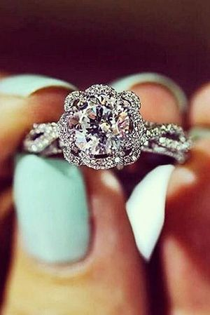 vintage diamond wedding engagement rings