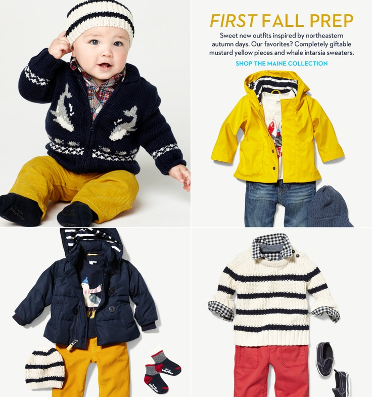First fall prep. Sweet new outfits inspired by northeastern autumn days. Our favorite? Completely giftable mustard yellow pieces and whale intarsia sweaters. Shop the maine collection