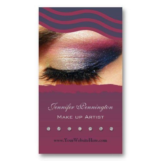 Makeup artist cosmetologist business card