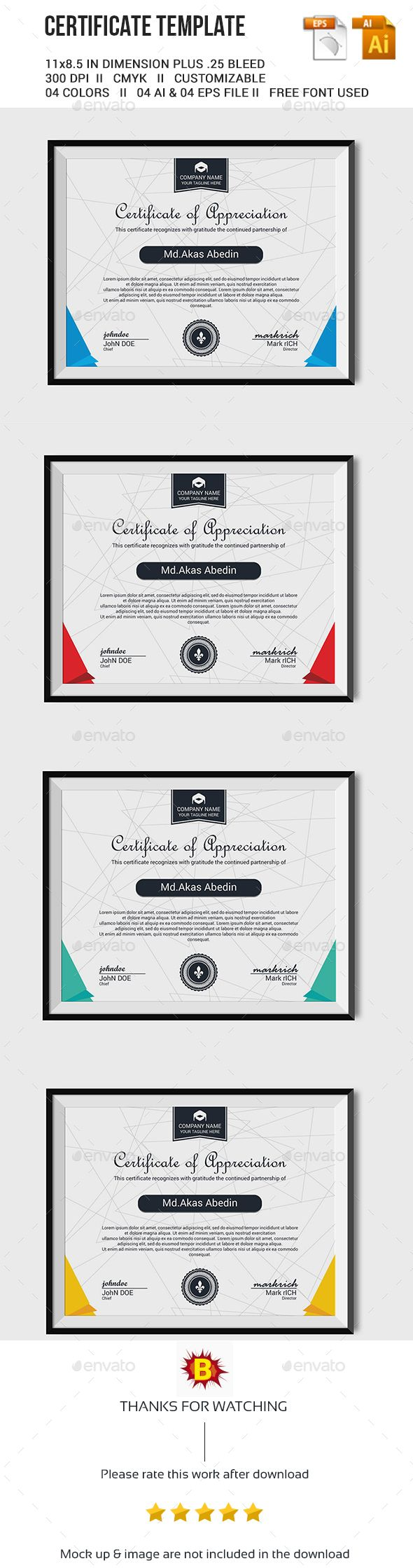 Certificate Template Vector EPS, AI. Download here…