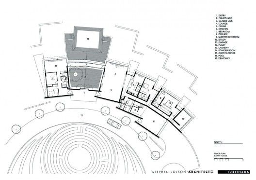 Earth house jolson architecture interiors architecture for Earth home floor plans